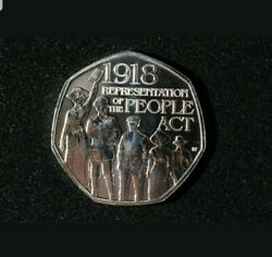 Super Rare -1918 Representation Of The People Act 50p Coin