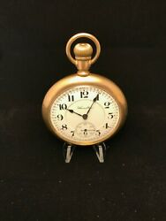 Hamilton Open Face Gold Filled Antique Pocket Watch 21 Jewel