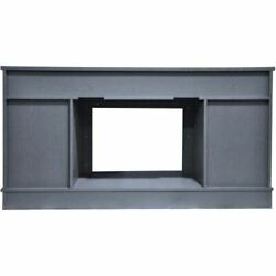 Savona Electric Fireplace Heater With 59 Slate Blue Tv Stand