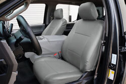 FORD F 150 2009 2014 GREY S.LEATHER CUSTOM MADE FIT FRONT SEAT COVER $149.00