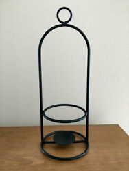 Amish made wrought iron Large Jar candle holder to hang or sit strong metal