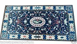 4'x2' Marble Center Dining Table Top Pietra Dura Mosaic Inlay Cyber Monday Decor