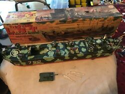 Vintage Marx 1950s Tin Marx Toy Boat Ship Fighting Lst 752 Battery Operated