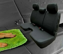 Black 100 Waterproof Bench Seat Cover Large Notched Cushion 3 Adj H/r Exact Fit