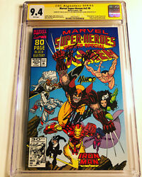 Cgc 9.4 Ss Marvel Super-heroes V2 8 Signed Lee Starlin Larsen Not 9.8