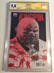 Cgc Ss 9.8 Kingpin 1 Variant Cover Signed By Bill Sienkiewicz
