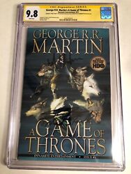 Cgc Ss 9.8 George R.r. Martin's A Game Of Thrones 1 Signed By Harington And Bean