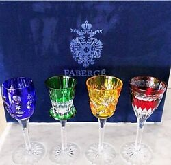 Imperial Collection Of Faberge Set Of 4 Cordial Glasses Mint In The Box