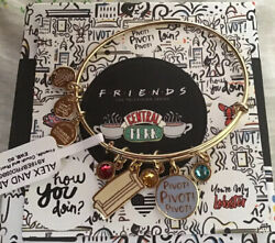 Alex And Ani Friends Collection Couch And Pivot Charm Bracelet Shiny Gold Bangle