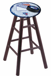 Holland Bar Stool Co. Oak Counter Stool In Dark Cherry Finish With New York R...