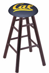 Holland Bar Stool Co. Oak Counter Stool In Dark Cherry Finish With Cal Seat R...