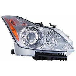 Replacement Headlight Assembly For 08-10 G37 Passenger Side In2503147oe