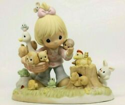 Precious Moments Collecting Friends Along The Way Pm-002 - Girl Tons Of Animals