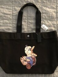 Nwt Coach Fisher Price Mr. Doodle Duck Tote Bag Black Limited Edition