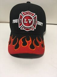 Las Vegas Fire Dept Red American Flag Baseball Cap One Fits All