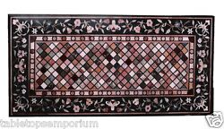 2.5and039x4.5and039 Marble Dining Table Top Rare Marquetry Inlaid Pietradura Outdoor Dandeacutecor