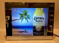 Corona Extra If Only. Miles Away From Ordinary Sound Motion Mirror Sign