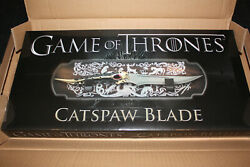 Catspaw Blade Game Of Thrones Licensed Hbo Valyrian Steel New 1 Of 2500 Sold Out