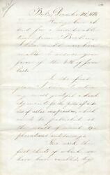 Count Helmuth V. Moltke German Field Marshall 5 Pg Letter Signed In English 1874