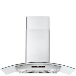 36 In. Ducted Wall Mount Range Hood Open Box - Stainless Steel Touch Controls