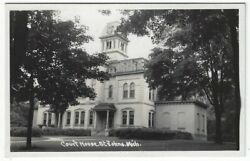 Rppc, St. Johns, Michigan, Early View Of The Court House