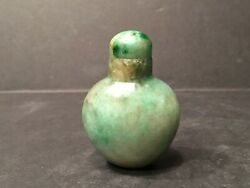 Old Large Chinese Jade Fei Cui Jade Snuff Bottle 18th-19th Century