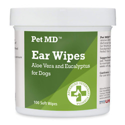 Pet Md - Dog Ear Cleaner Wipes - Otic Cleanser For Dogs To Stop Itch 100 Count