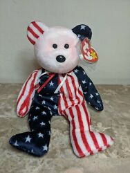 Ty 1999 Beanie Babies Spangle Pink Face