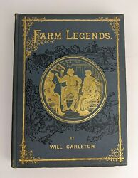 Will Carleton Farm Legends 1887 Antique Early American Lit Poetry Book Display