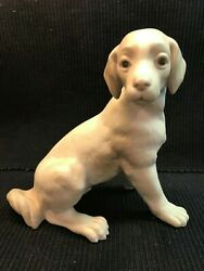 Extremely Rare Vintage Pre-1960 Lladro Sitting Dog Figure