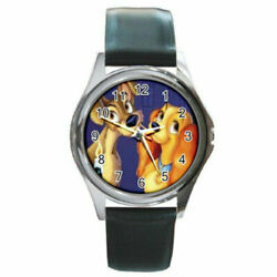 Lady And The Tramp Watch Round Metal Wristwatch Aa