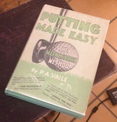 Putting Made Easy Vaile The Mark G Harris Method 1935 First Golf Classic Rare