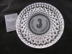 Waterford Crystal Christmas Nativity Mother Child Madonna Mary And Jesus Plate