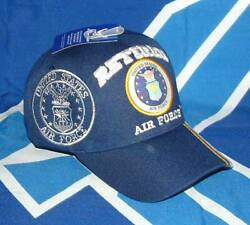 US Air Force Retired Old Logo Embroidered Fully Licensed Military Ball CapHat.