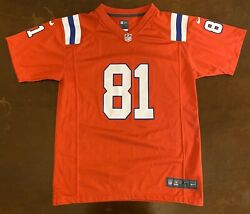 Rare Nike Nfl New England Patriots Aaron Hernandez Red Jersey Youth Xl