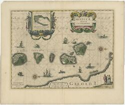 Antique Map Of The Maluku Islands By Blaeu C.1640