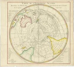 Antique Map Of The Southern Hemisphere By Benard 1778