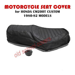 Motorcycle Seat Cover Will Fit Cm200t Cm200 T Honda 1980- 82 Inc Strap