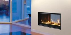 Majestic Mezzanine 36 Indoor/outdoor See-through Gas Fireplace W/ Remote Control