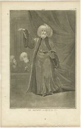Antique Print Of The Mufti Or Chief Of The Law By Picart C.1725