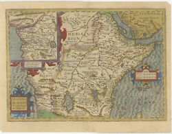 Antique Map Of Central Africa By Mercator 1609