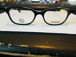 Bebe Talk Of The Town Rx Eyeglasses Bb5130 Bb5130 Color 001 Jet Size 52mm/16/13