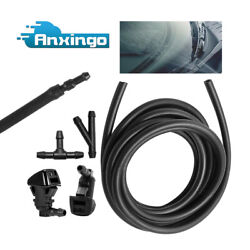 6 Windshield Washer Water Spray Washer Nozzle +3m Fluid Hose+3connectors