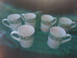 Royal Doulton Jacobean 6 Mugs / Cups Everyday, Floral, Exc Set