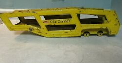 Vintage Metal Tonka Yellow Car Carrier Toy- Auto Transporter- Made In Usa