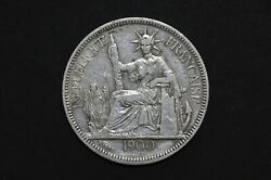 French Indo-china 1900a Piastre Silver Coin Wt 26.79 G C267