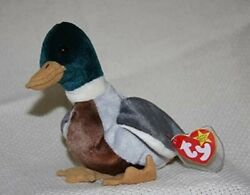 Ty Beanie Babies 1997 Vintage Jake The Duck Retired Rare Errors And Stamp Tag