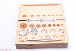 ✅ Balance Scale Antique French Weights Gold 2 Micro Grams Up To 50 Pharmacy