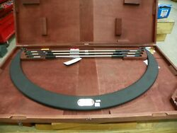 Starrett 36-42 Outside Micrometer W/ Interchangeable Anvils And Gage Rods