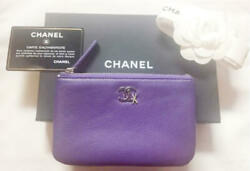 Chanel Mini Pouch Coco Mark m55507565568 Purple Pre-owned From Japan
